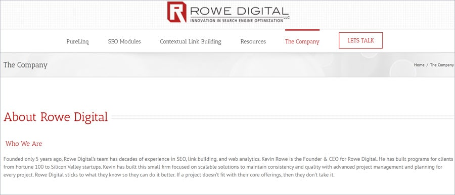 affordable seo services Rowe Digital