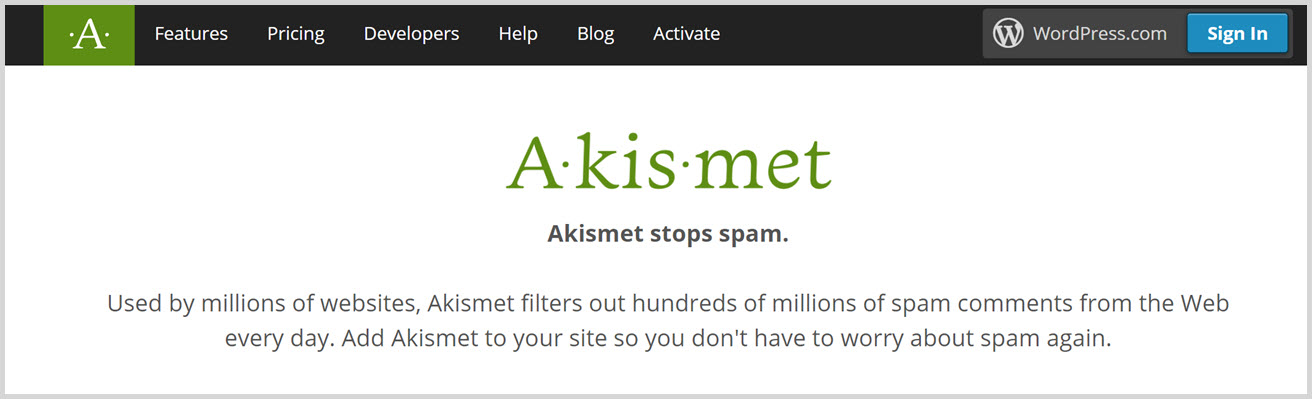 must have wordpress plugins - Akismet