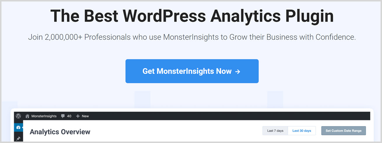 must have wordpress plugins - MonsterInsights
