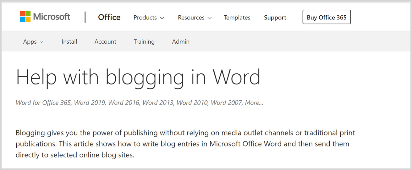 blog organization with Word