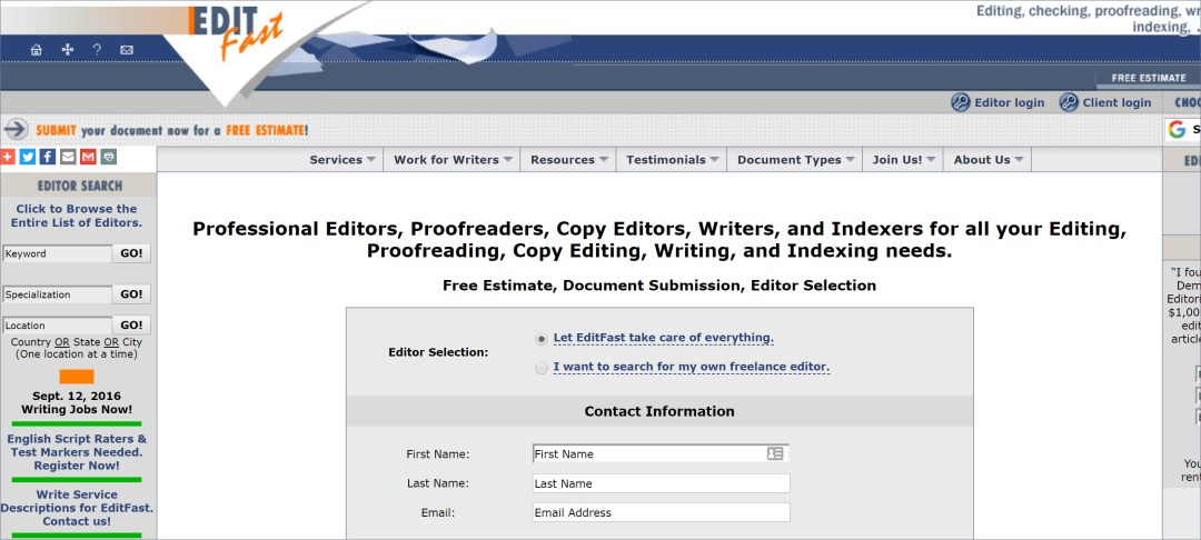 Online Proofreading Jobs and proofreading and editing services - EditFast